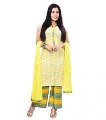 Vedika Creations Yellow Colour Georgette Anarkali Salwar Kameez (Code-VCNCATTSK-2).