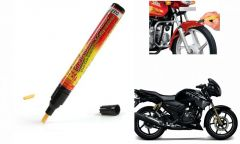 Spidy Moto Auto Smart Coat Paint Scratch Repair Remover Touch Up Pen For Tvs Apache Rtr 180_