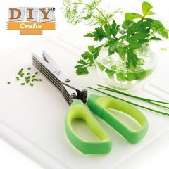 5 Blades Scissors Vegetable Chopper Paper