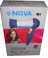Nova 1000 W Professional Electric Hair Dryer Foldable