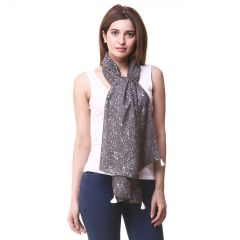 Hive91 Scarf for Women in Grey Color Poly Cotton size (Code - RH01SCGY)