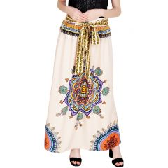 Shivali  Printed Cream color  Poly Cotton long Skirt(Code-SG-SK-001)