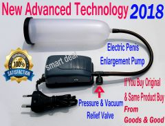 Electric Penis Enlargement Pump With Pressure & Vacuum Relief Nozzle Plus Free Massage Oil