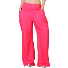 Vedik Style Womens Solid Pink Regular Fit Palazzos(Code-PZ0106-RA)