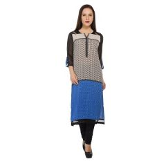 Present Women Black Cotton Kurti ( Code-PC-3108A)