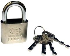 Shoppingekart Stainless Steel Square Circle 30 Mm With 4 Keys Padlock - (Code -L-8402)