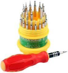 Shoppingekart Metal and Plastic 31 In 1 Pcs Round Jackly Ratchet Screwdriver Set - (Code -S-1105)