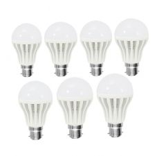 Shoppingekart Plastic Round Shaped White LED Bulb 3W,5W,7W,9W,12W,15W,18W Super LED Bulb - (Code -B-LED71)