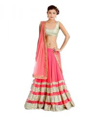 Shoppingekart Embroidered Semi-stitched Lehenga Choli Material - (Code -SEQUENCE_LEHENGA)