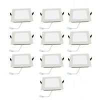 Square Ceiling LED Panel Light - 6 Watt (pack Of 10 Bulb)