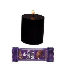Love Gift Classy Black Candle with Cadbury Chocolate