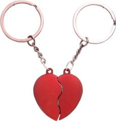 Indigo Creatives Lovers Red Magnetic Cojoining Couple Love Key Chain Gift Set