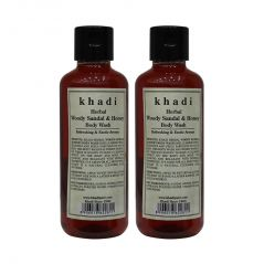 Khadi Herbal Woody Sandal & Honey Body Wash - 210ml (Set of 2)
