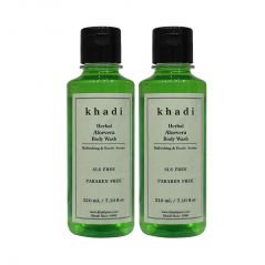 Khadi Herbal Aloevera Body Wash SLS-Paraben Free - 210ml (Set of 2)