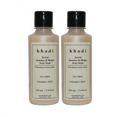 Khadi Herbal Jasmine & Mogra Body Wash SLS-Paraben Free - 210ml (Set of 2)