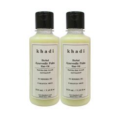 Khadi Herbal Ayurvedic Palm Hair Oil - 210ml (Set of 2)