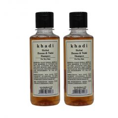 Khadi Pure Herbal Henna & Tulsi with Extra Conditioning Shampoo-210ml (Set of 2)