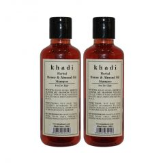 Khadi Herbal Honey & Almond Oil Shampoo - 210ml (Set of 2)