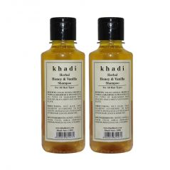 Khadi Herbal Honey & Vanilla Shampoo - 210ml (Set of 2)