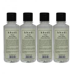 Khadi Herbal Rose Water - 210ml (Set of 4)