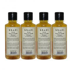 Khadi Herbal Honey & Vanilla Shampoo - 210ml (Set of 4)