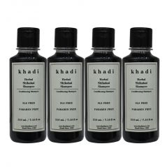 Khadi Herbal Shikakai Shampoo SLS-Paraben Free - 210ml (Set of 4)