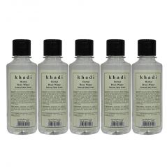 Khadi Herbal Rose Water - 210ml (Set of 5)