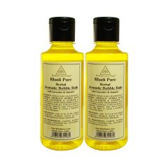 Khadi Pure Herbal Aromatic Bubble Bath with Lavender & Jasmine - 210ml (Set of 2)