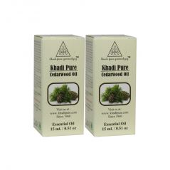 Khadi Pure Herbal Cedarwood Essential Oil - 15ml (Set of 2)