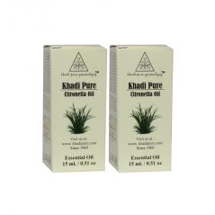 Khadi Pure Herbal Citronella Essential Oil - 15ml (Set of 2)