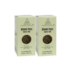 Khadi Pure Herbal Clove Essential Oil - 15ml (Set of 2)