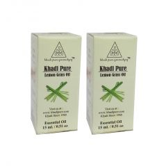 Khadi Pure Herbal Lemongrass Essential Oil - 15ml (Set of 2)