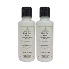 Khadi Pure Herbal Sunscreen Lotion (SPF 30) -210ml (Set of 2)