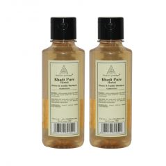 Khadi Pure Herbal Honey & Vanilla Shampoo - 210ml (Set of 2)