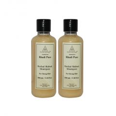 Khadi Pure Herbal Walnut Shampoo - 210ml (Set of 2)