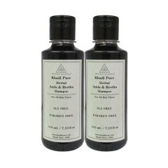 Khadi Pure Herbal Amla & Reetha Shampoo SLS-Paraben Free - 210ml (Set of 2)