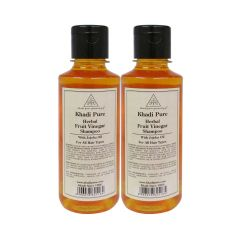 Khadi Pure Herbal Fruit Vinegar Shampoo with Jojoba Oil - 210ml (Set of 2)