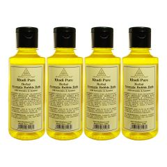 Khadi Pure Herbal Aromatic Bubble Bath with Lavender & Jasmine - 210ml (Set of 4)