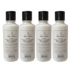 Khadi Pure Herbal Orange & Lemongrass Hair Conditioner - 210ml (Set of 4)