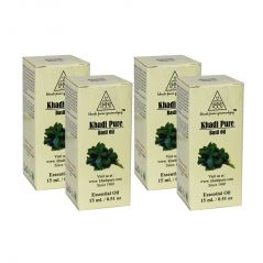 Khadi Pure Herbal Basil Essential Oil - 15ml (Set of 4)