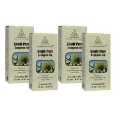 Khadi Pure Herbal Eucalyptus Essential Oil - 15ml (Set of 4)