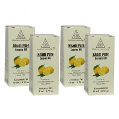 Khadi Pure Herbal Lemon Essential Oil - 15ml (Set of 4)