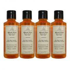 Khadi Pure Herbal Thyme Henna Hair Tonic - 210ml (Set of 4)