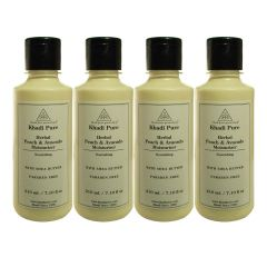 Khadi Pure Herbal Peach & Avacado Moisturizer with Sheabutter Paraben Free - 210ml (Set of 4)