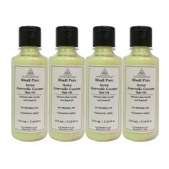 Khadi Pure Herbal Ayurvedic Coconut Hair Oil - 210ml (Set of 4)