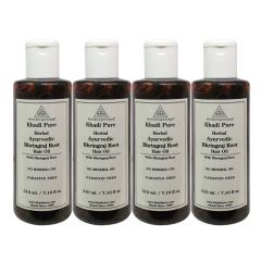 Khadi Pure Herbal Ayurvedic Bhringraj Root Hair Oil - 210ml (Set of 4)