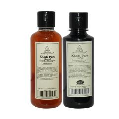 Khadi Pure Satritha and Shikakai Shampoo Combo (420ml) Pack 2