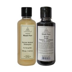 Khadi Pure Walnut and Amla Shampoo Combo (420ml) Pack 2