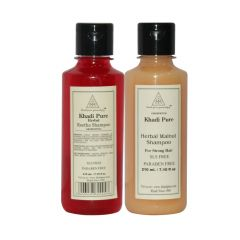 Khadi Pure Reetha and Walnut Shampoo SLS Free Combo (420ml) Pack 2