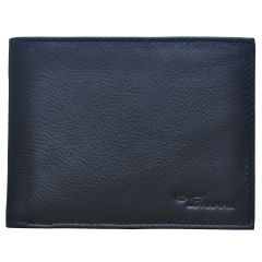 Tamanna Men Black Genuine Leather Wallet (6 Card Slots) (Code - LWM00033-TM)
